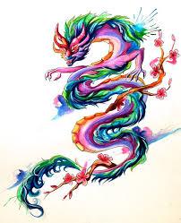 rainbow dragon tattoo art by yuuza on deviantart