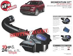 2014 jeep grand v8 afe power pre release product momentum gt stage 2 si intake