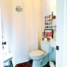 monogrammed shower curtain traditional bathroom sally