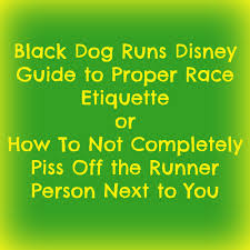 what is the proper etiquette when you run into one clown giving race etiquette or how not to run with your up your