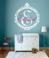 online get cheap monogram wall decal aliexpress com alibaba group personalized name wall decal bedroom monogram vinyl wall stickers removable living room decoration frame art decal