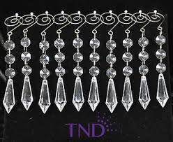 20 pcs acrylic hanging crystals ornaments with icicle prisms