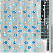 Animal Shower Curtains Stylish Blue Color Animal Print Fish Pattern Peva Shower Curtain