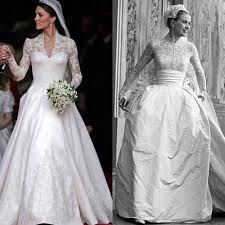 grace kelly vs kate middleton u0027s wedding dress u2013 rachael mcpherson