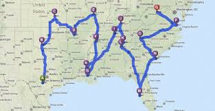 southeast us road map if you were in pensacola florida would it be farther to drive to