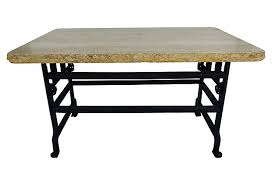 Kreiss Outdoor Furniture by Iron U0026 Travertine Industrial Table By Kreiss Modernism