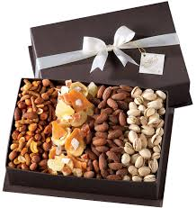 broadway basketeers gourmet fruit and nut gift basket for