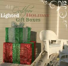 outdoor lighted gift boxes diy outdoor lighted holiday gift boxes what rose knows