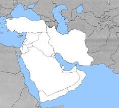 outline map middle east blank middle east map my