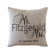 wedding pillows personalized mr and mrs pillow cover custom wedding