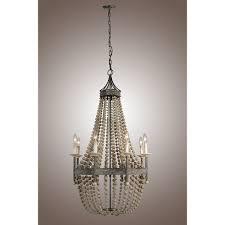 wood bead ceiling light decomust wooden pottery barn wood bead pendant chandelier