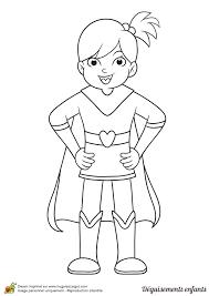 Coloriage Déguisements Enfant Supergirl