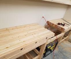 Woodworking Bench Top Surface by How To Create A Laminated Workbench Top 6 Steps With Pictures