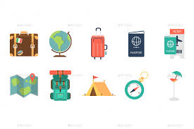 Travel icons by krafted graphicriver