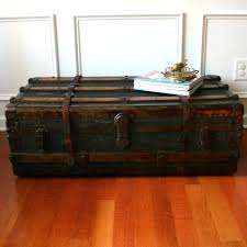 wooden trunk coffee tables vintage storage trunks wooden chest coffee table