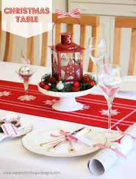 the amazing table setting for christmas ideas best gallery design