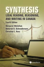 lexisnexis legal research synthesis legal reading reasoning and writing in canada 4th