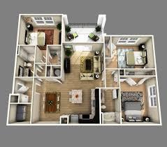 apartment luxury apartment floor plans 3 bedroom 3d open floor