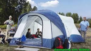 Kelty Canopy by Ridgeway By Kelty Skyliner 14 Person Cabin Tent Youtube