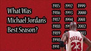 what was michael s best season