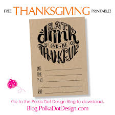 free thanksgiving invitation printable