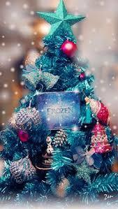 frozen tree ornament blue tree elsa olaf