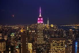 Empire State Building Halloween Light Show Glamour Lights Up The Empire State Building In Pink For Women Of