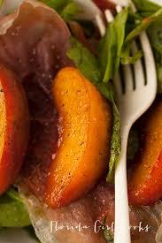 Sur La Table Boca Raton Grilled Peaches With Spinach And Prosciutto Florida Cooks
