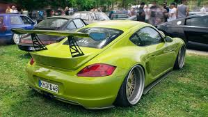 porsche cayman green air ride porsche cayman s kevlar bodywork youtube