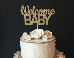 baby cake toppers any name personalized welcome baby cake topper personalized