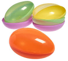 jumbo plastic easter eggs prextex jumbo 7 plastic easter egg containers in assorted colors