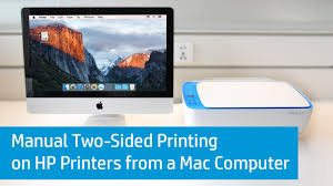manual two sided printing on hp printers from a mac computer