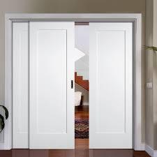 Sliding Closet Doors White Outstanding White Wood Sliding Closet Doors 99 With Additional