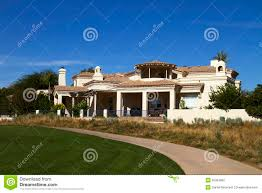 Modern Mansion New Modern Mansion Golf Course Home Estate Stock Image Image