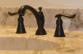 Rubbed Bronze Bathroom Fixtures Delta Venetian Bronze Bathroom Faucet Single Handle 1 Spray Tub