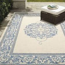 Frontgate Outdoor Rug Hooked Transitional Starfish Indoor Outdoor Area Rug 5
