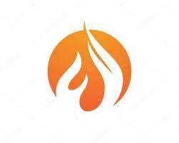 fire flames icon logo template u2014 stock vector elaelo 95174094