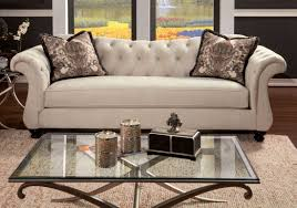 Sofa King Doncaster by Antoinette Beige Premium Fabric Sofa From Furniture Of America