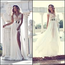 com buy beautiful long prom dresses 2014 new arrival deep v neck