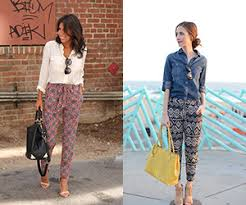 20 style tips on how to wear printed pants ideas gurl com