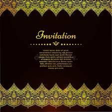 a luxury vintage vector card invitation with beautiful golden