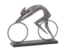 modern cyclist sculpture metal cycle statue