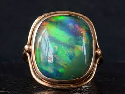 black opal 1920s black opal ring erie basin