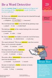 word detective detective context clues and worksheets