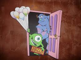 Monster Inc Decorations Items Similar To Extra Lg Monster Inc Door With Balloons And Happy