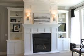 Wall Shelf Sconces Accessories Built In Bookcases Around Fireplace With Fireplace
