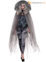 womens ghost halloween costumes ladies gothic zombie ghost halloween fancy dress costume womens