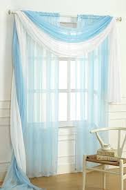 amazon com dainty home solid sheer voile window scarf 60 by 216