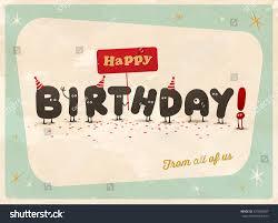 vintage style funny birthday card happy stock vector 327878957