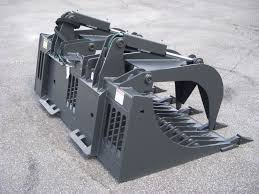 bobcat skid steer attachment 72 rock bucket grapple with teeth